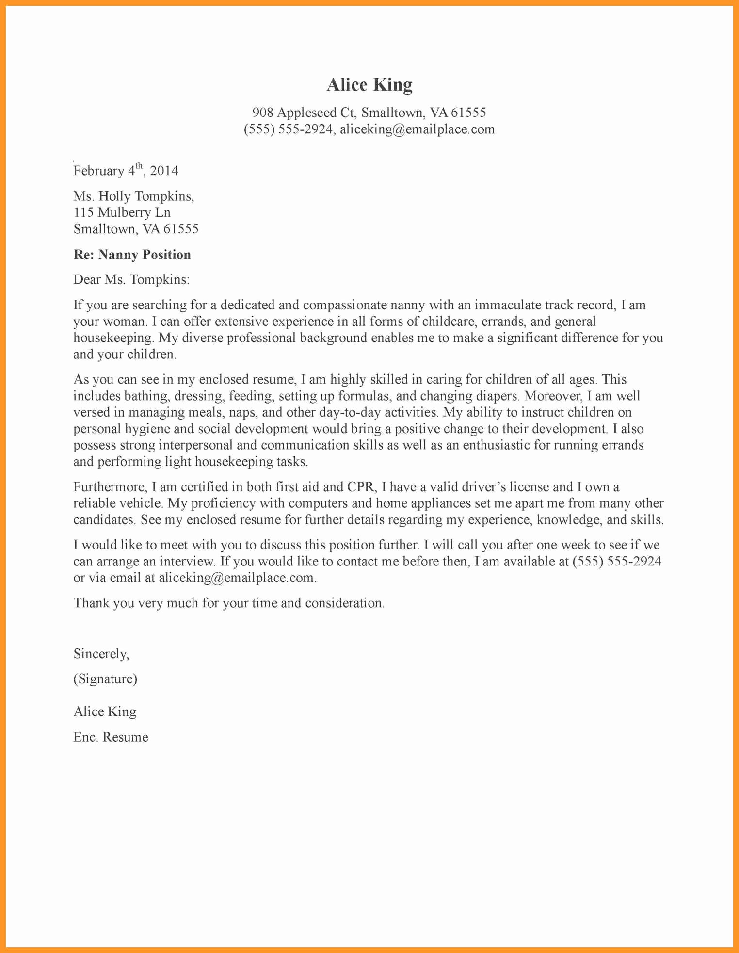 Recommendation Letter for Babysitter Inspirational Babysitter Letter Of Re Mendation