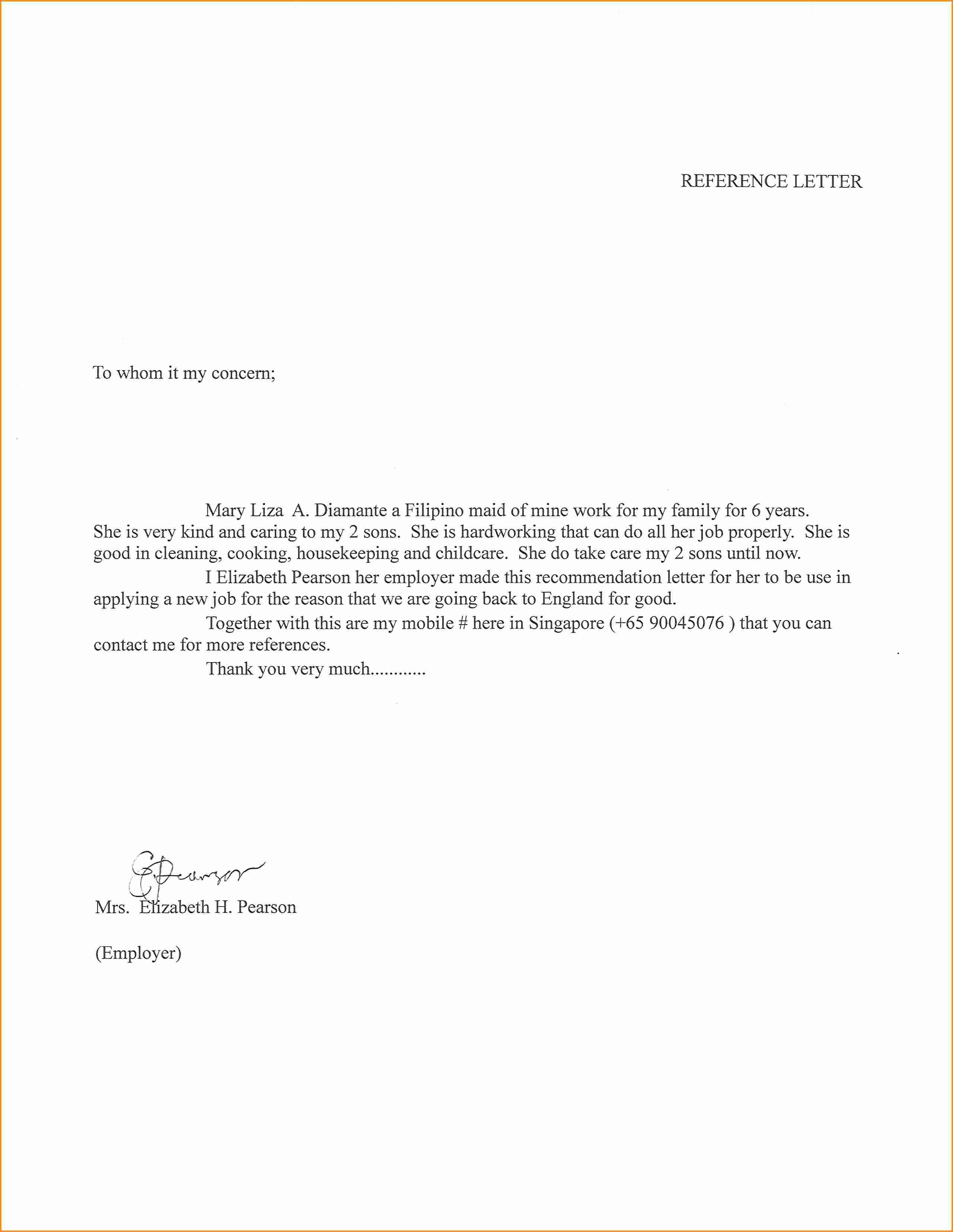 Recommendation Letter for Babysitter New Letter Re Mendation for Child Caregiver Cover