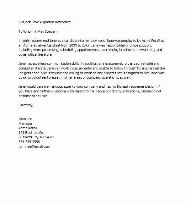 Recommendation Letter for Boss Awesome 50 Best Re Mendation Letters for Employee From Manager
