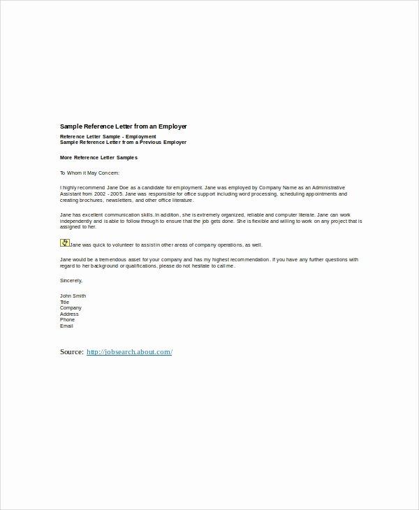 Recommendation Letter for Boss Best Of 6 Sample Employer Re Mendation Letter Free Sample
