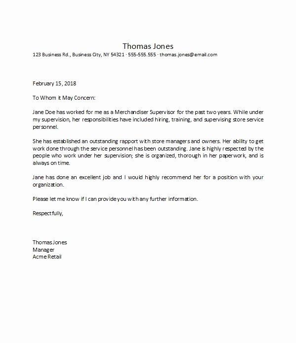 Recommendation Letter for Boss Elegant 50 Best Re Mendation Letters for Employee From Manager