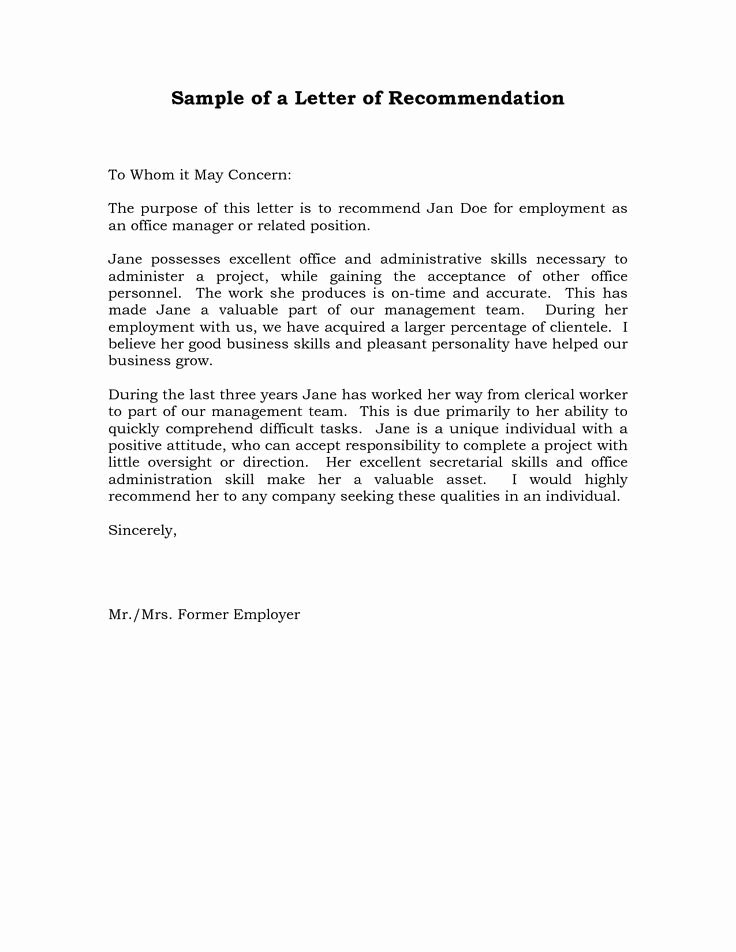 Recommendation Letter for Boss Elegant Reference Letter Of Re Mendation Sample