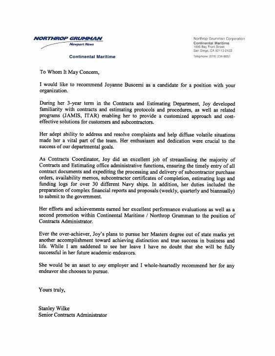 Recommendation Letter for Boss Fresh Re Mendation Letter Previous Employer