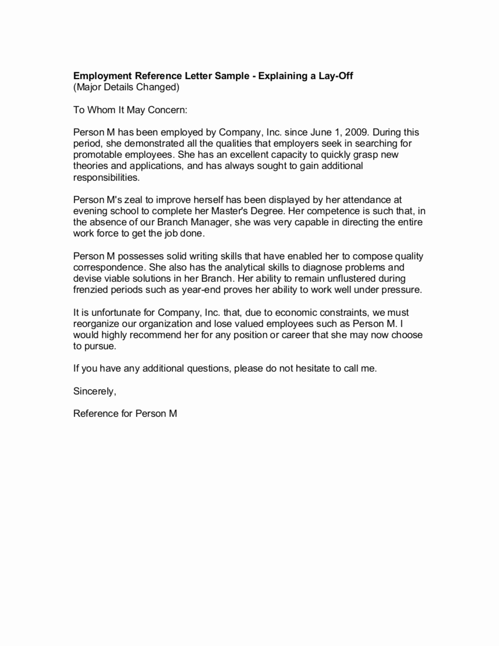 Recommendation Letter for Boss Luxury 9 Reference Letter From A Previous Employer Examples