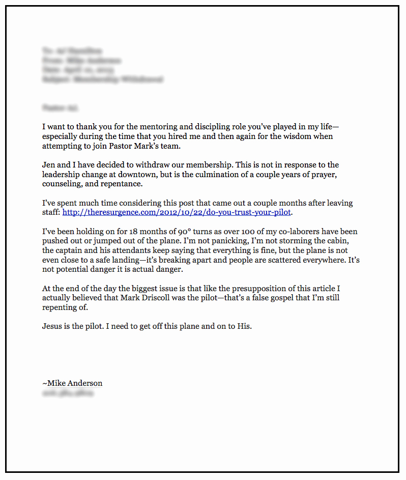 Recommendation Letter for Church Member Awesome I M A Recovering Mars Hill True Believer