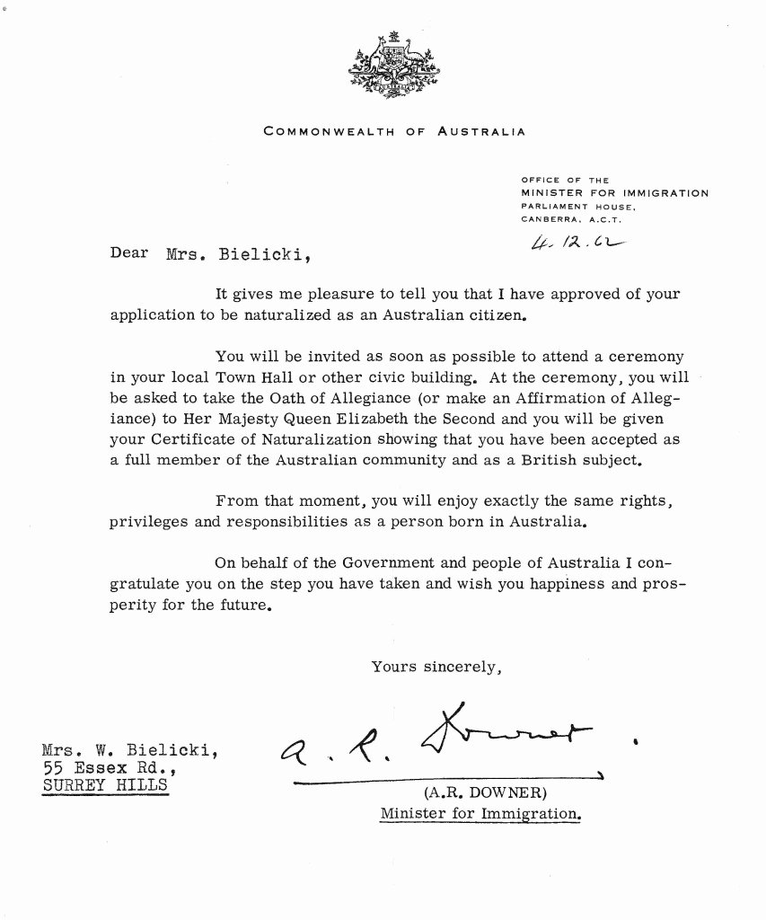 Recommendation Letter for Citizenship Sample Unique Letter Of Citizenship Australia