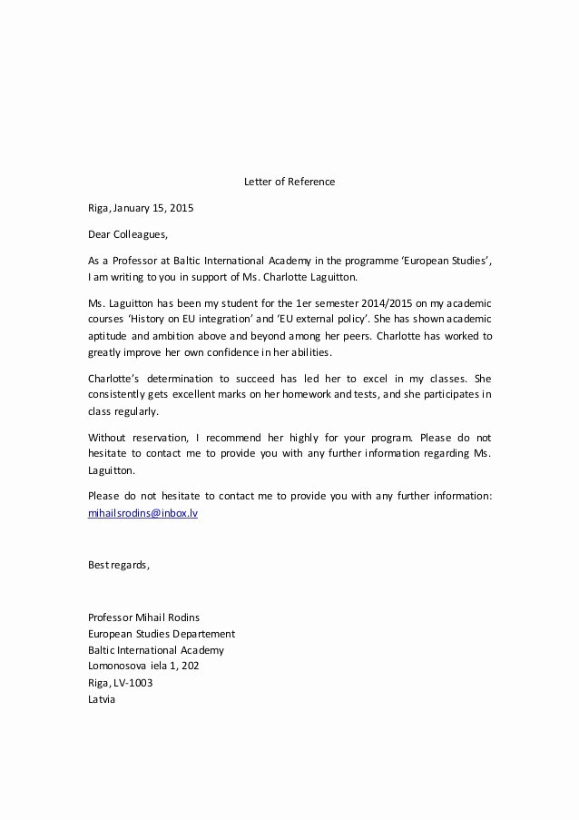 Recommendation Letter for Colleague Professor Best Of Re Mendation Letter Mr Rodins