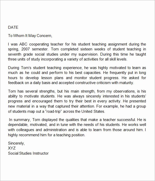 Recommendation Letter for Colleague Professor Unique Sample Letter Of Re Mendation for Teacher