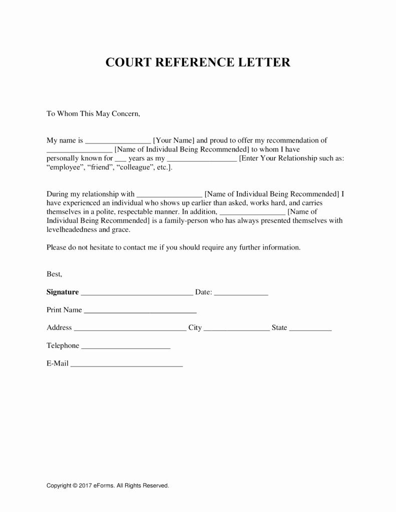 Recommendation Letter for Court Inspirational Sample Character Reference Letter for Court Child Custody