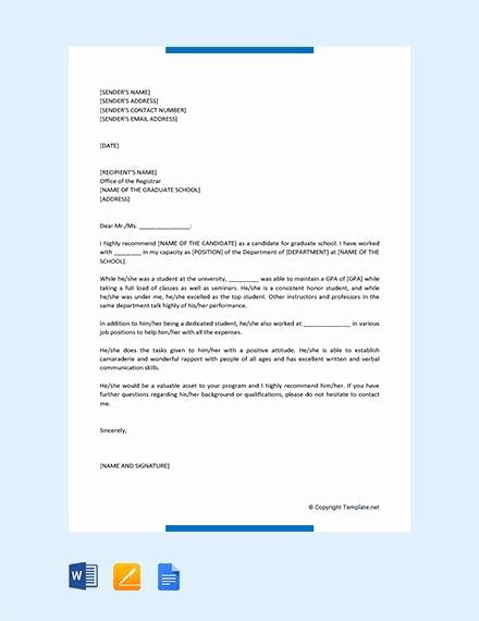 Recommendation Letter for Coworker Pdf Beautiful 44 Sample Letters Of Re Mendation for Graduate School
