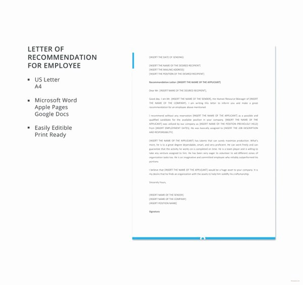 Recommendation Letter for Coworker Pdf Fresh 18 Employee Re Mendation Letters Pdf Doc