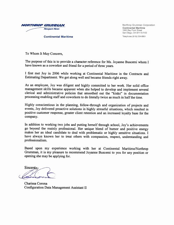 Recommendation Letter for Coworker Pdf Fresh Colleague Re Mendation Letter
