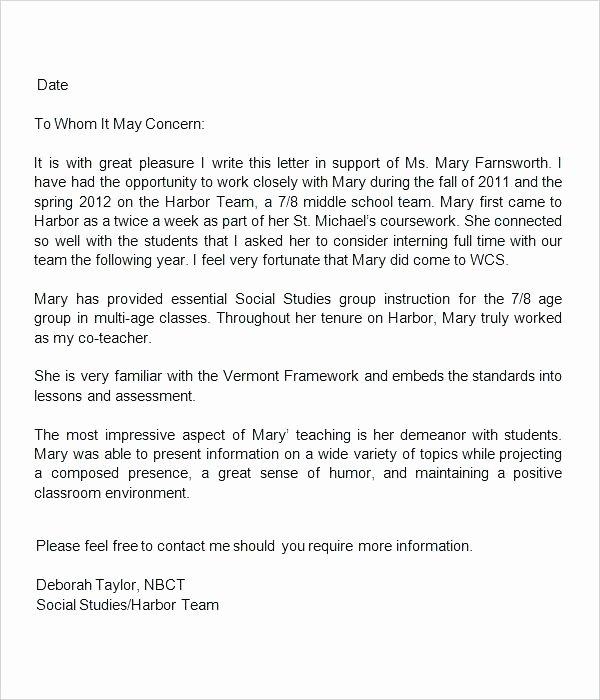 Recommendation Letter for Coworker Pdf Inspirational Letter Re Mendation for Teacher Sample Teaching