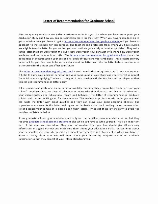 Recommendation Letter for Dental School Elegant Letter Of Re Mendation for Graduate School 38