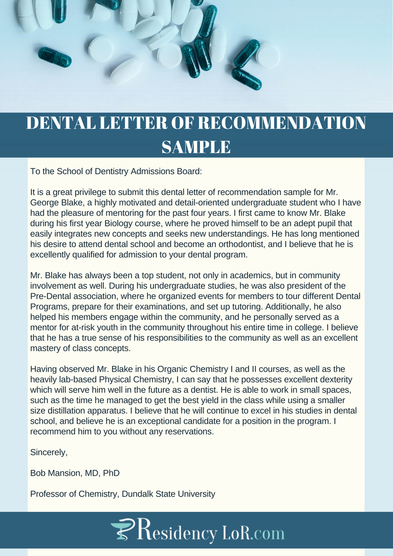Recommendation Letter for Dental School Inspirational Re Mendation Letter for Dentist Tips Tricks Samples