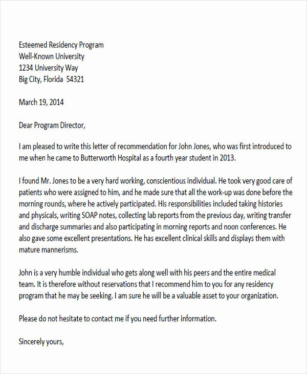 Recommendation Letter for Doctor Pdf Best Of 8 Sample Physician Re Mendation Letters Doc Pdf
