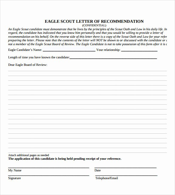Recommendation Letter for Eagle Scout Best Of 10 Eagle Scout Letter Of Re Mendation to Download for