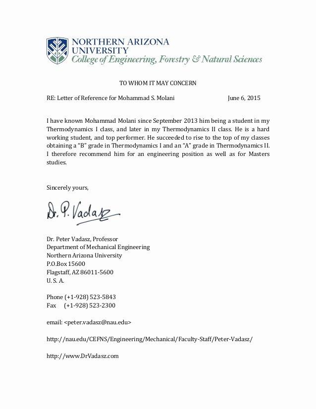 dr peter vadasz professor re mendation letter