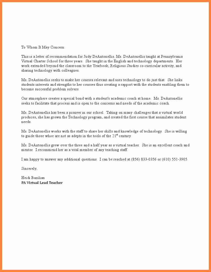 Recommendation Letter for Executive assistant Awesome Sample Letter Re Mendation for Administrative