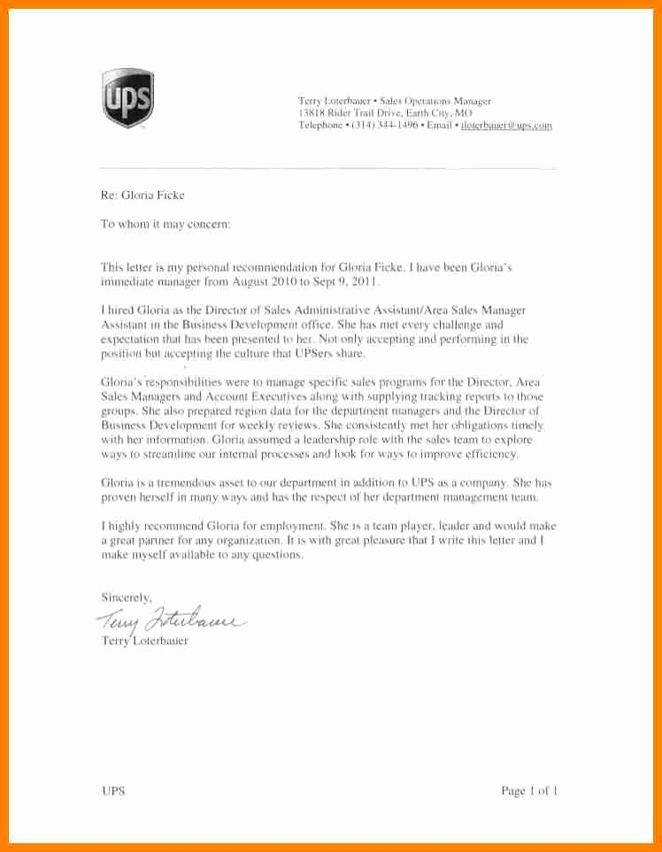 Recommendation Letter for Executive assistant Beautiful 9 Re Mendation Letter for Administrative assistant