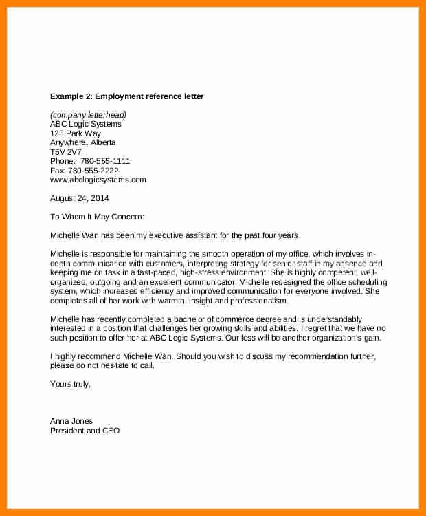 Recommendation Letter for Executive assistant Best Of 9 Re Mendation Letter for Administrative assistant