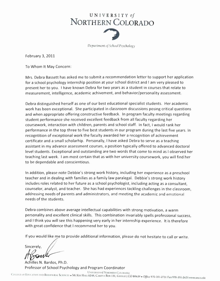Recommendation Letter for Faculty Position Awesome Reference Letters