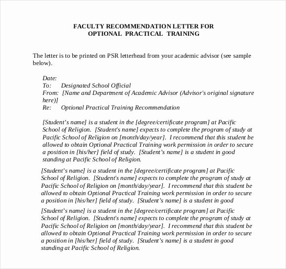 Recommendation Letter for Faculty Position Elegant 28 Letters Of Re Mendation for Teacher Pdf Doc