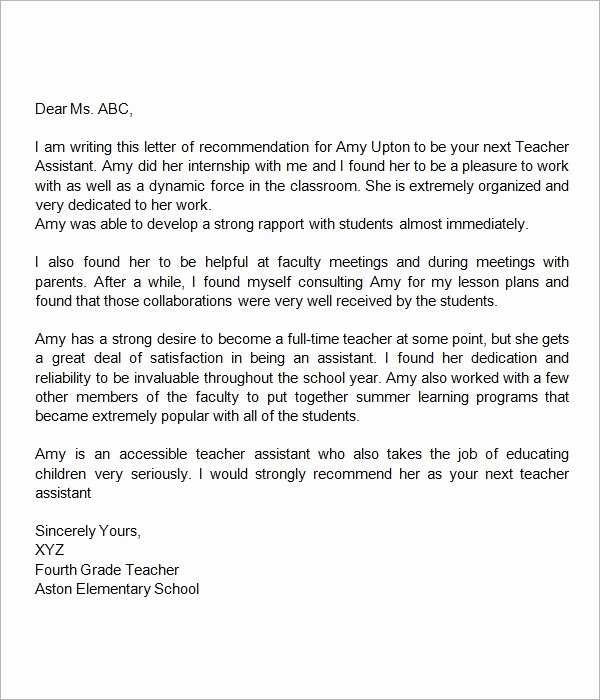 Recommendation Letter for Faculty Position Lovely Re Mendation Letter for Faculty Position Letter Of