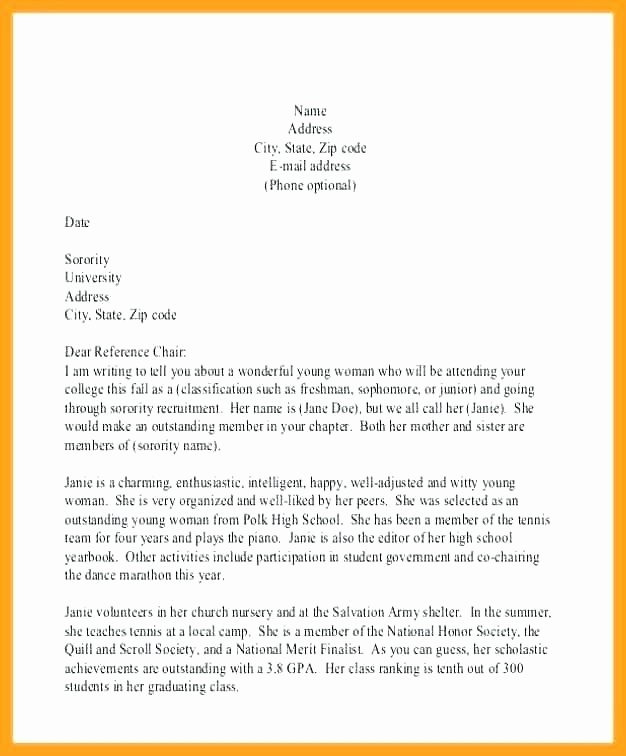 Recommendation Letter for Honor society Best Of National Junior Honor society Letter Re Mendation