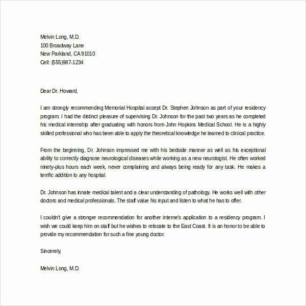Recommendation Letter for Internship Beautiful 44 Sample Letters Of Re Mendation for Graduate School