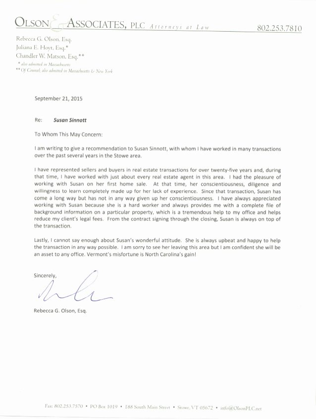 Recommendation Letter for Lawyer New Reference Letter Lawyer