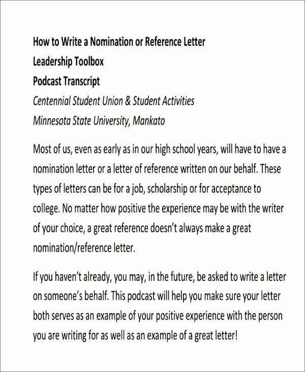 Recommendation Letter for Leadership Program Awesome 9 Sample Leadership Re Mendation Letters Pdf Doc