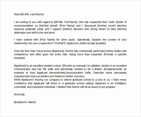 Recommendation Letter for Leadership Program Best Of 44 Sample Letters Of Re Mendation for Graduate School