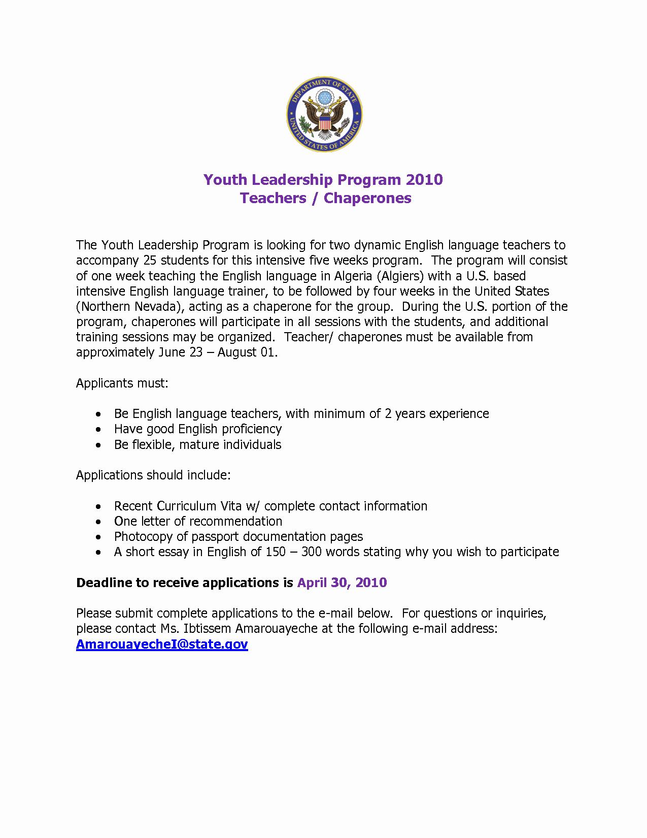 Recommendation Letter for Leadership Program Elegant Best S Of Leadership Re Mendation Letter Sample