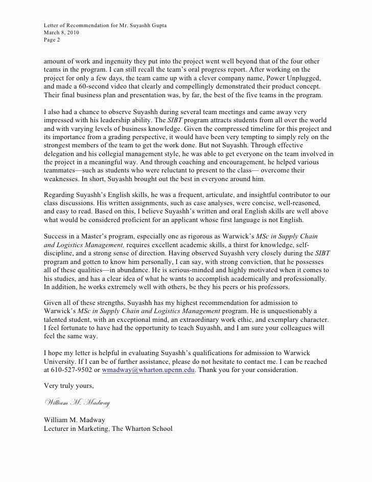 Recommendation Letter for Leadership Program Inspirational Letter Re Mendation for Leadership Program