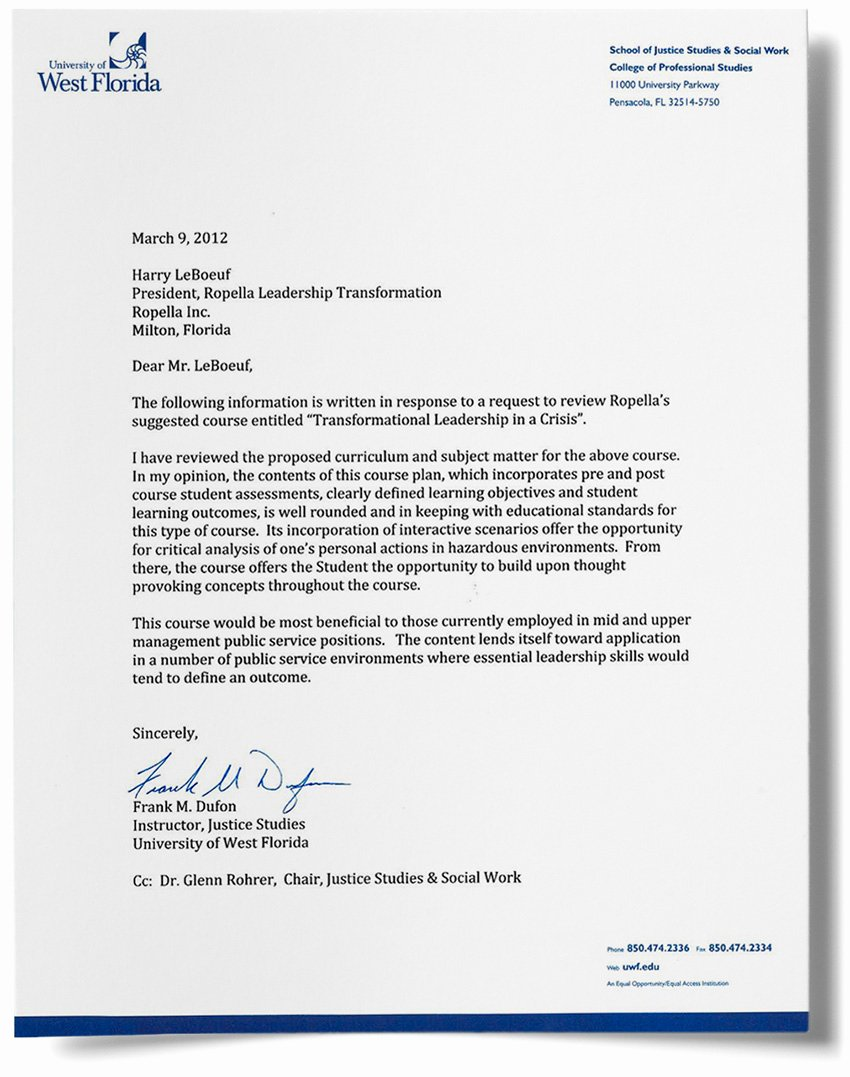 Recommendation Letter for Leadership Program Inspirational Transformational Leadership In A Crisis