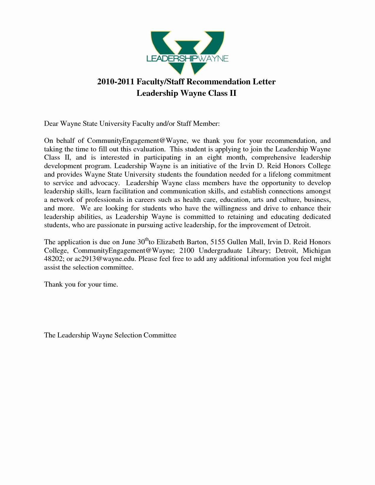 Recommendation Letter for Leadership Program Unique Best S Of Leadership Re Mendation Letter Sample