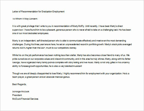 Recommendation Letter for Masters Program Lovely Letter Re Mendation for Masters Program