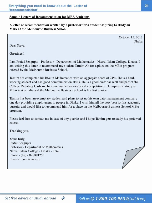 Recommendation Letter for Mba Elegant the Ultimate Guide to Ting the Perfect Letter Of