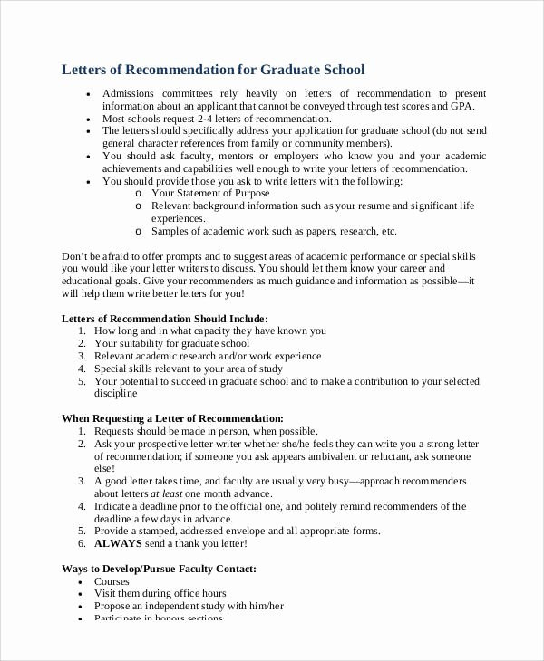 Recommendation Letter for Mba Inspirational Sample Academic Re Mendation Letter 5 Examples In Word