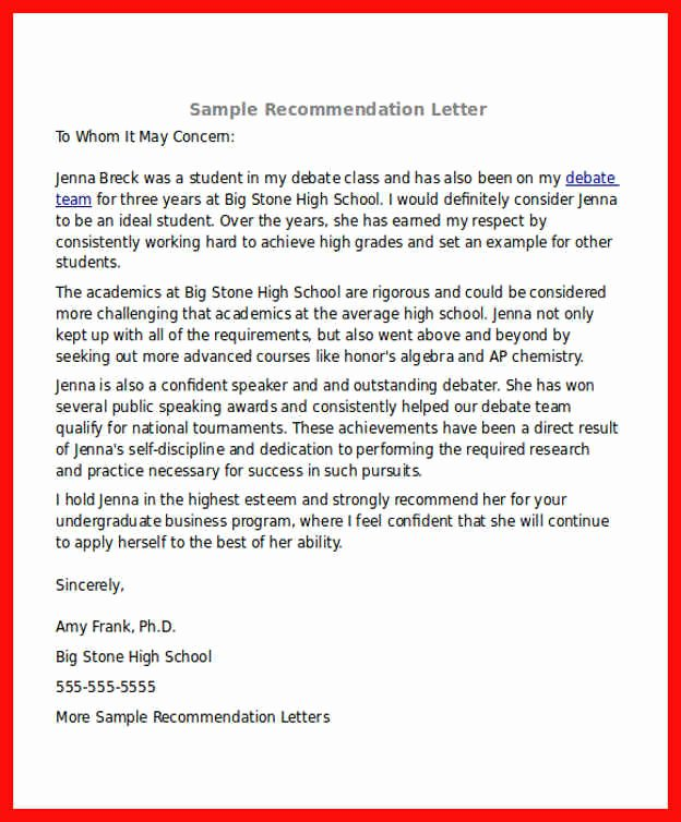 Recommendation Letter for Mba New Re Mendation Letter Mba