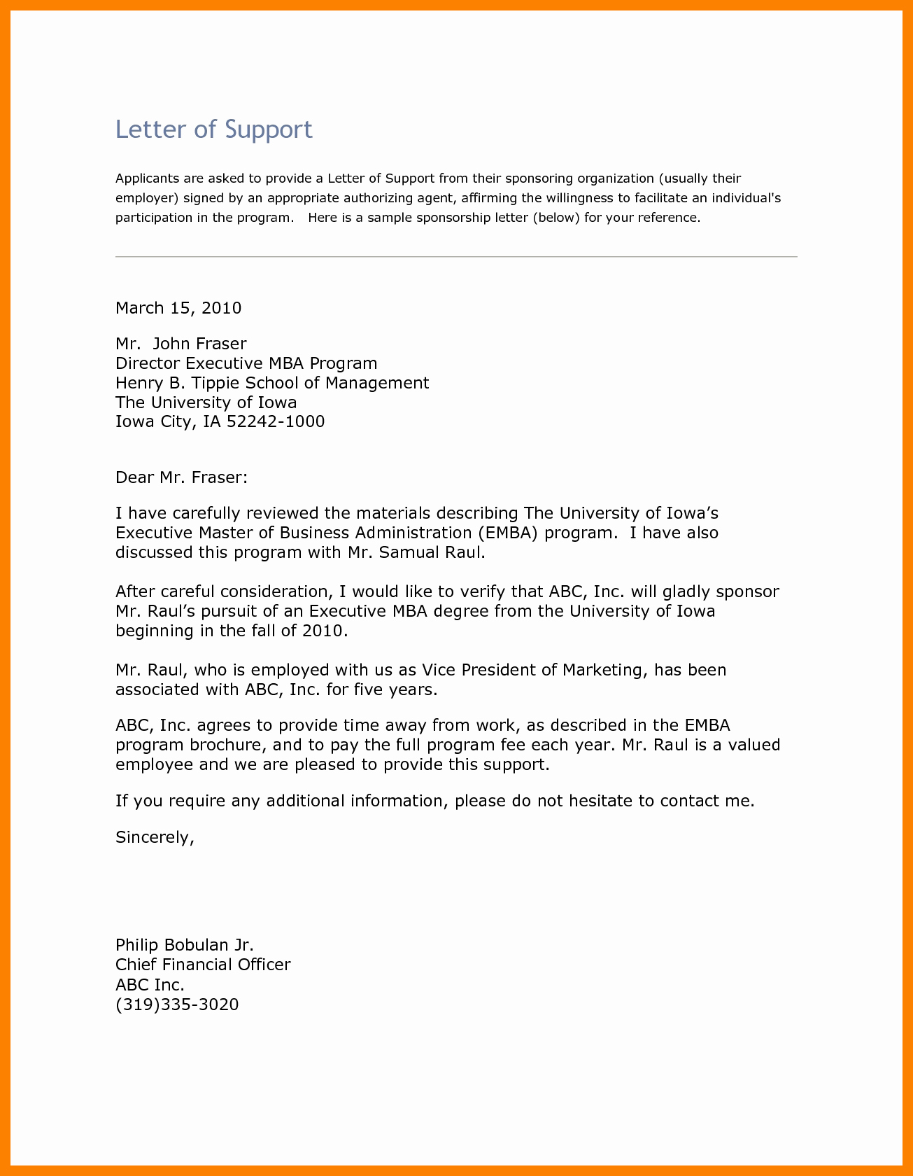 Recommendation Letter for Mba Program Elegant Letter Of Re Mendation Mba