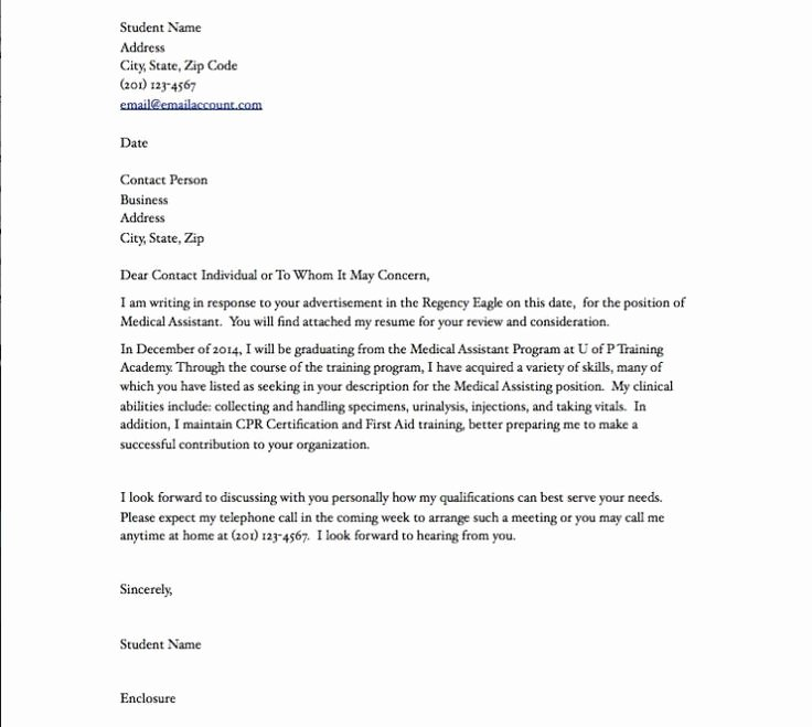 Recommendation Letter for Medical assistant Beautiful Medical assistant Resume Cover Letter Medical assistant