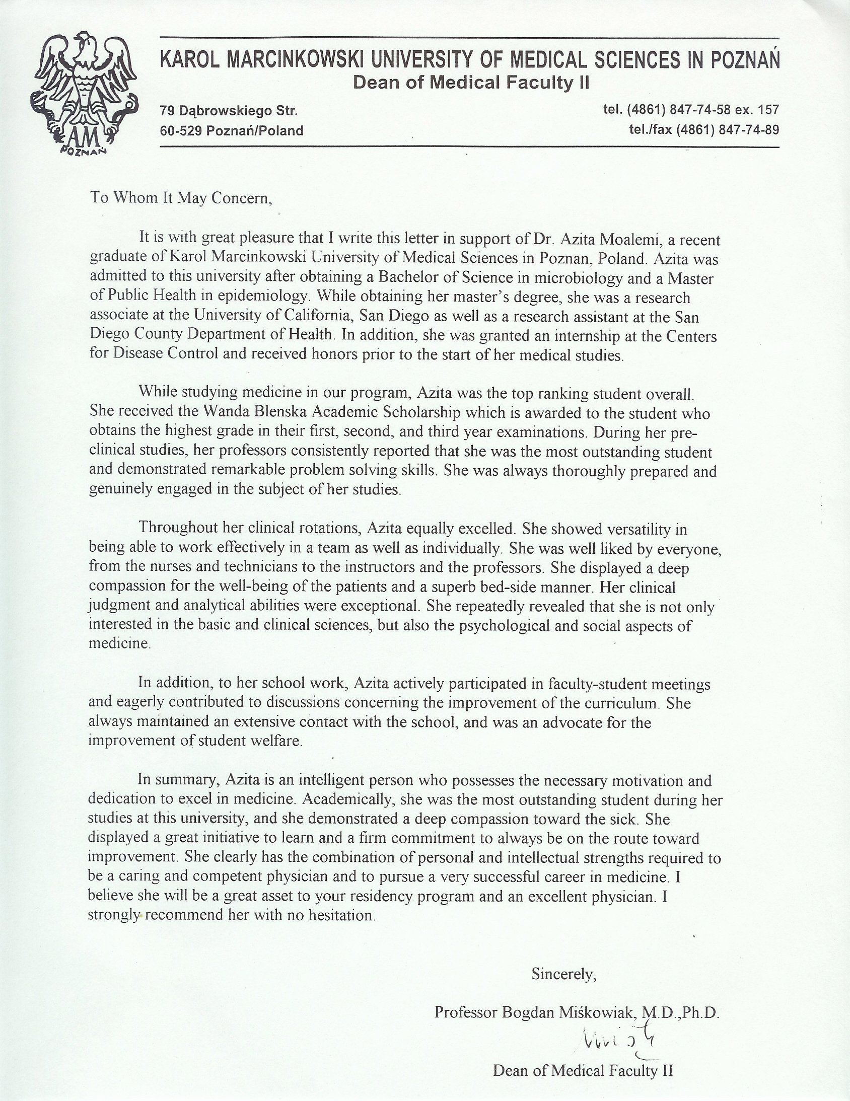 Recommendation Letter for Medical Student Awesome Writing A Letter Of Re Mendation for A Student for