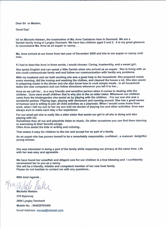 Recommendation Letter for Nanny Luxury Job Offer Letter Uk Template Free