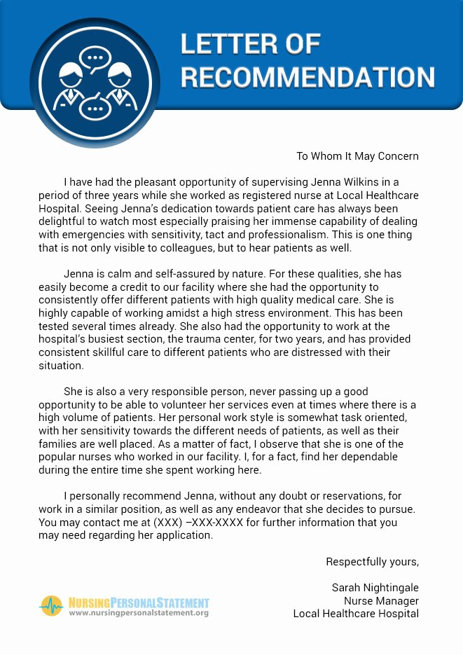 Recommendation Letter for Nursing School Awesome Pinterest • the World's Catalog Of Ideas