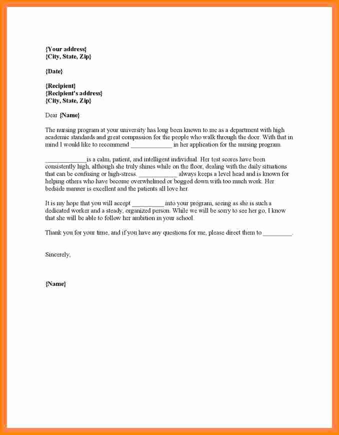 Recommendation Letter for Nursing Student Awesome 12 Sample Appeal Letter for Nursing School