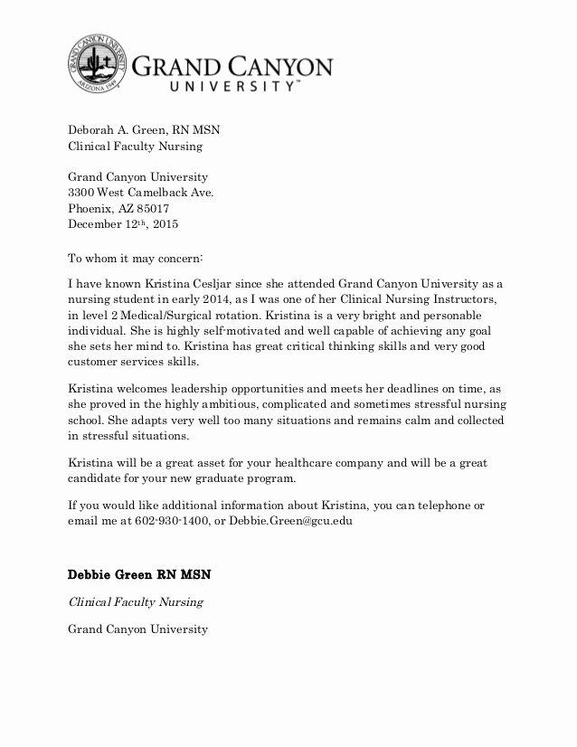 re mendation letter for kristina cesljar