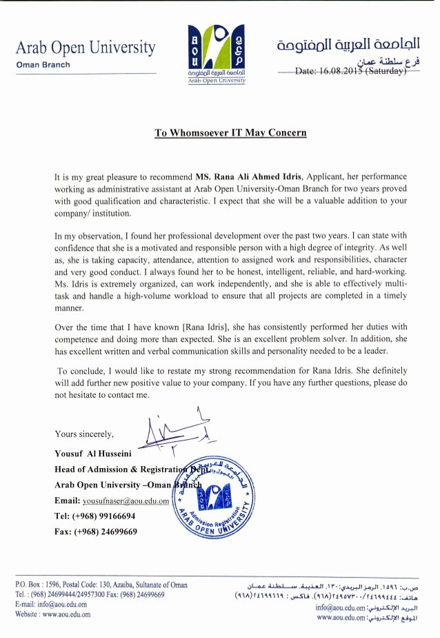 Recommendation Letter for Phd Admission Elegant Re Mendation Letter Admission Department