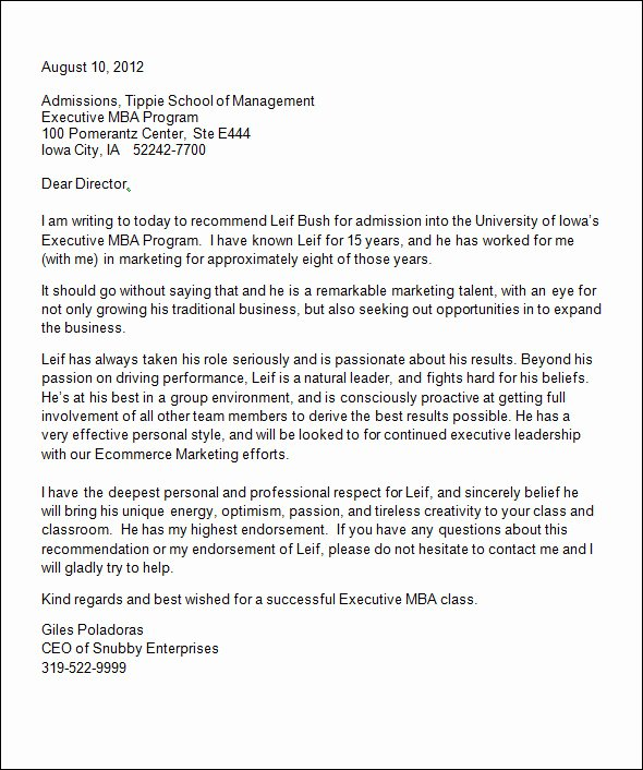 Recommendation Letter for Phd Admission New Sample College Re Mendation Letter 14 Free Documents